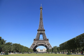 The majestic Eiffel Tower