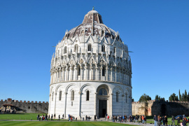 The cathedral and baptistery