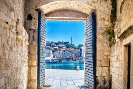 The medieval town of Trogir
