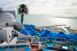 The blue and white town of Sidi Bou Saïd