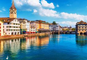 See Lake Zurich and the River Limmat