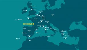 Carte des destinations